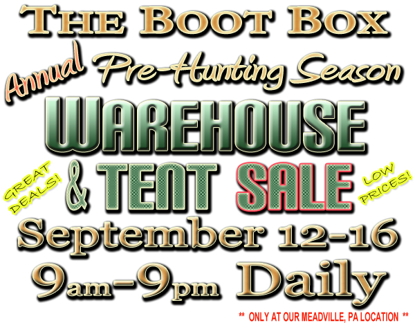 2018 Warehouse and Tent Sale
